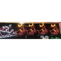 LED Ropelight Santa Sleigh with 4 Reindeer