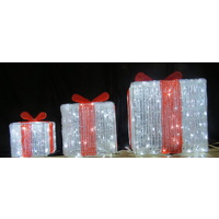 Commercial 3 LED Giftboxes - 3 different sizes.