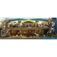 Large Nativity Town Scene with LED lights- 125cm long