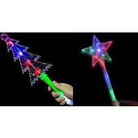 Light Up Tree/Star Wand - 2 assorted
