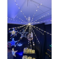 Warm White LED Starry Wire Starburst - 70cm