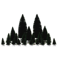 21 Pc Assorted Pine Trees by Lemax