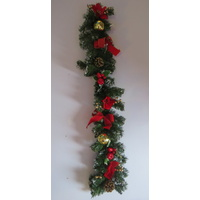 1 Metre Garland Snow Tipped with Decorations