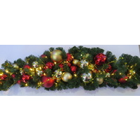 1.8M Prelit Bauble Garland