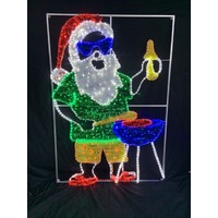 Australian Santa at BBQ Rope Light Motif