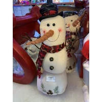 Plush Snowman 55cm with Black Hat