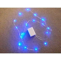 2M Long Blue micro LED Battery Operated LED String on Copper Wire