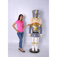 6 Foot Tall Commercial Nutcracker- Grey