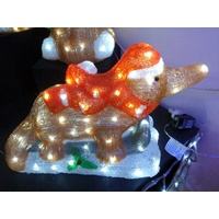 30cm Christmas Platypus on Sleigh