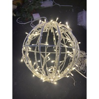 30cm Diameter Warm White Christmas Ball