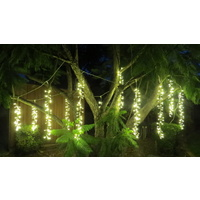 10M Warm White Firecracker Curtain -green wire
