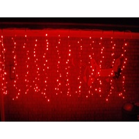 Red Static LED Curtain 2.4M x 1.5M