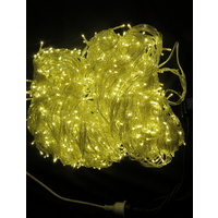 100M Static Warm White String Lights -clear wire