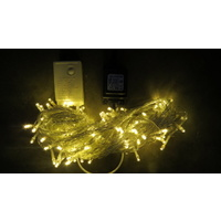 30m Warm White LED String -clear wire