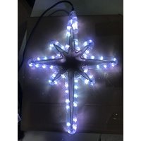 Small White LED Nativity Star with Blinking Bulbs