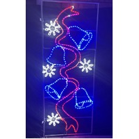 LED Commercial Bells and Ribbon and Snowflakes