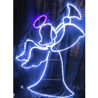 Cool White LED Angel with Warm White Blinking Wings