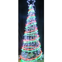 Commercial LED Red Green and White Spiral Tree- 150cm High