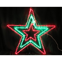 Red/green/red Flashing Star