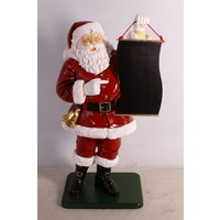 4 Foot Santa with Menu Board