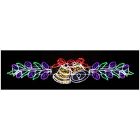 LED Bells with Leaves Rope Light Motif - 3.4M Long