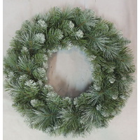 60cm New Hampshire Pine Wreath with Snow Tips