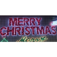 Giant LED Merry Christmas with individual letters