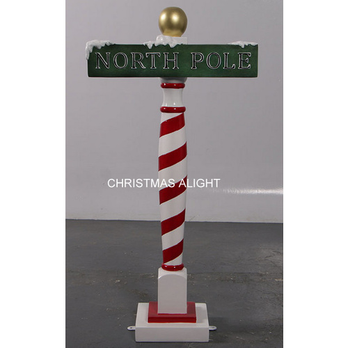 Resin North Pole Sign