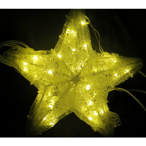 Warm White LED 3D Star - 32cm diameter
