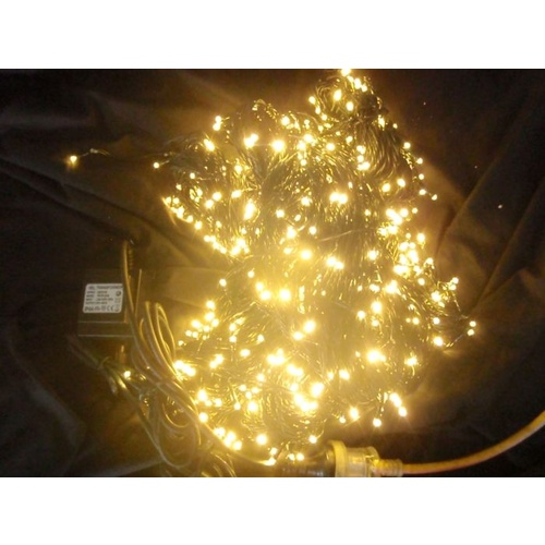 80M Long Warm White LED String Lights (Hire price only)