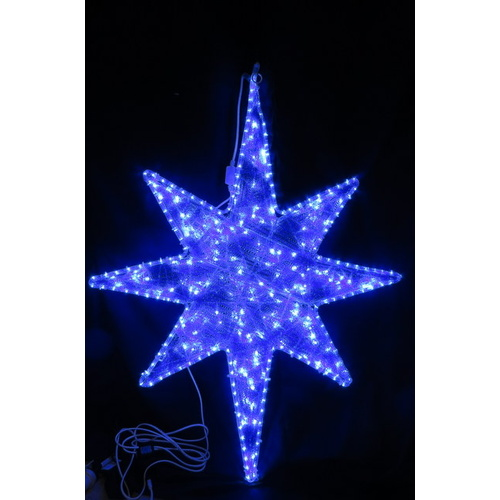 LED Blue North Star with White blinking bulbs
