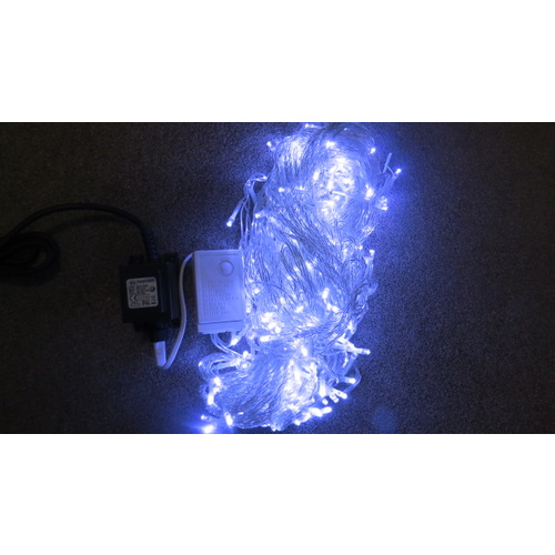 20m White LED String -clear wire