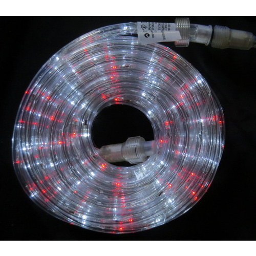10M  Red/ White LED Rope Light with Transformer